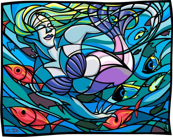 "Serenity Under the Sea (11""h x 14""w)"