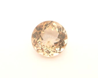 Peach Imperial Topaz Gemstone - Beautiful Golden Peach Imperial Topaz -  6.42 carats  - VVS clarity