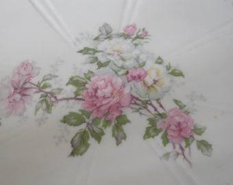 Elegant Vintage Limoges Porcelain Tray, with Pink Roses