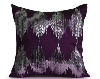 Purple Ikat Pillow | Etsy