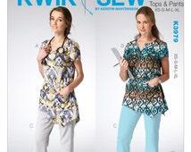 Kwik Sew 3979 Misses' Scrubs Top and Pants, Sewing Pattern, New Uncut Size XS-XL