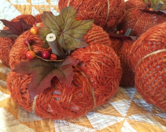 Knit Pumpkin (medium size)