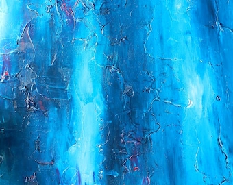 "Textured Abstract Acrylic Painting ""ENCRYPTION"" - 90cm x 60cm"