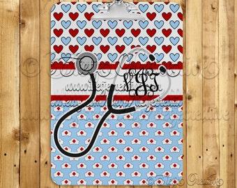 Nurse, Monogram, Clipboard, Medical, Custom Clipboard