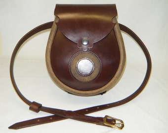 Earn, Handmade Brown & Maracca Urban Hide  Moon Leather Earn Sporran
