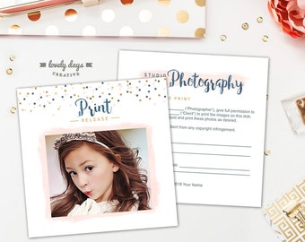 Print Release Photography Template for Photographers PSD INSTANT DOWNLOAD