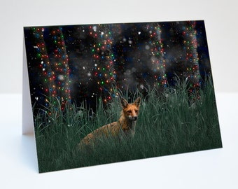 Fox Christmas / Holiday Photo Greeting Card