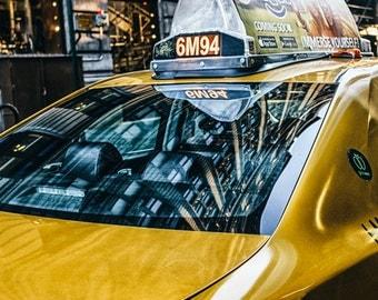New York Photography - NYC Cab, Yellow, Yellow Cab, Taxi New York, SoHo, Manhattan, I Love New York, Fine Art, NYC Print NY 8x12 color photo