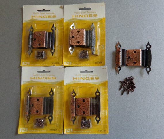 Vintage National Lock Cabinet HInges Hardware 10 Off Set Hinge ...
