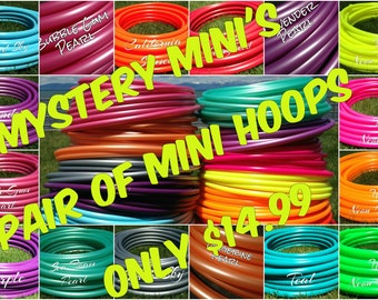 Mystery Minis - 2 Colored PolyPro Mini Hula Hoops - You Choose the Size for the Hoops