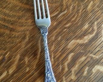 Sterling Silver Durgin Dauphin Fork Vintage Rare
