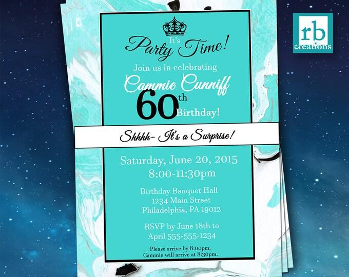 Surprise Party Invitations, Surprise Birthday Invitation, Surprise 60th Birthday Invitations, Adult Birthday Invitations - Digital Printable