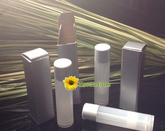 Silver Lip Balm Tube Box - 10 Pack