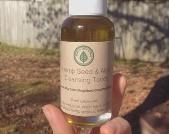 SALE! Hemp Seed and Aloe Cleaning Toner for all skin types