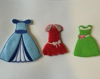 "Three Velcro ""Paper Doll"" Dresses"