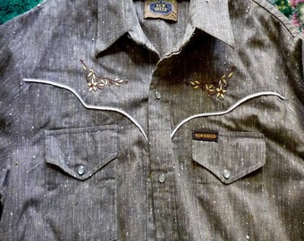 New Breed Western shirt size Large c1980s made in Australia as new vintage