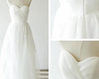 Sweetheart Wedding Dress Lace Applique
