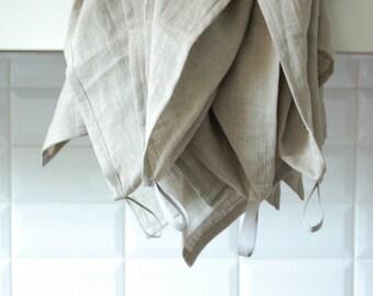 Linen dish towel, pure organic linen kitchen towel, natural grey dining towel, flax tea towel, linen dishcloth, washed linen towel, grey tea
