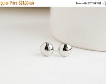 White Gold Earrings, White Gold Studs, Wedding Earrings, Bridal Earrings,  Everyday Earrings, Bridesmaid Earrings