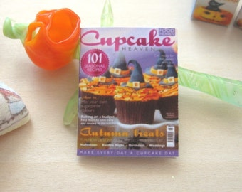 dollhouse halloween cupcake magazine 12th scale miniature