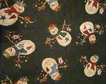 Country Snowman Fabric