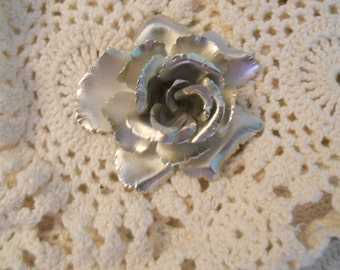 Rose pin measuring 2.75 inches round no markings statement pin for those who love pins