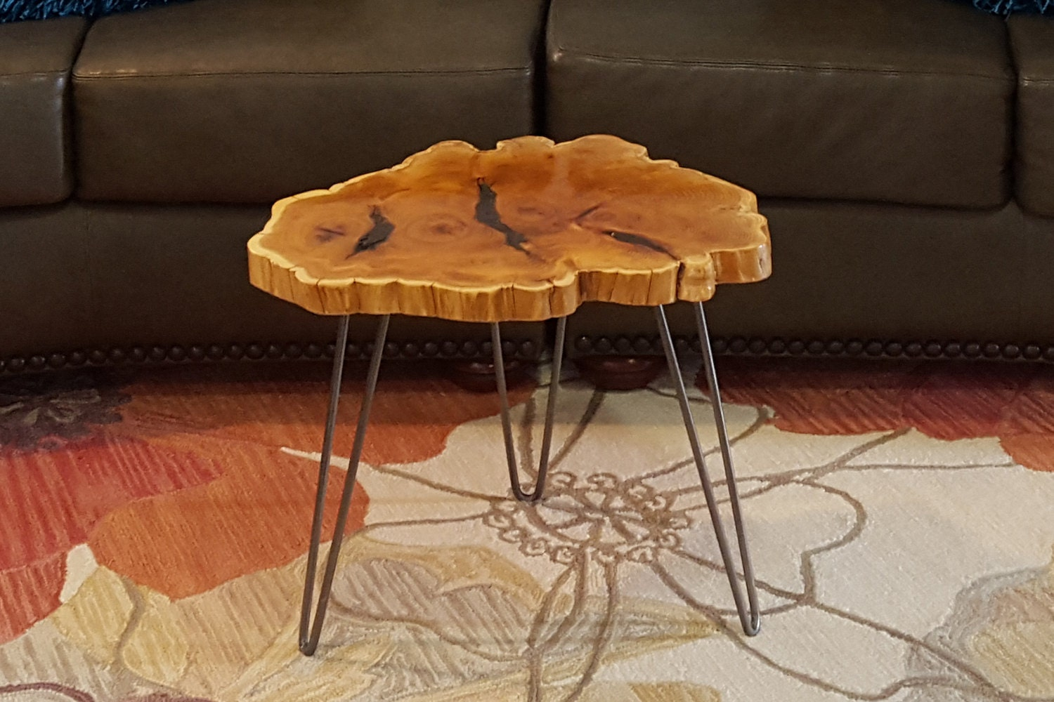 Natural Edge Yew Wood End Table Coffee Table By Kallakreations