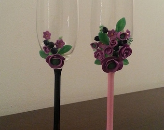 For wedding champagne flutes