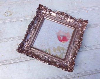 Rose Gold Picture Frame, Rose Gold Wedding, Nursery Decor, Office Decor, Glam, Metallic Picture Frame, Wedding Sign, Gift for Her,  B021