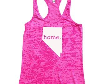 Nevada Home Burnout Racerback Tank Top - Women's Workout Tank Top