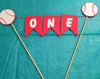Softball cake topper, Softball party decoration, Smash cake topper