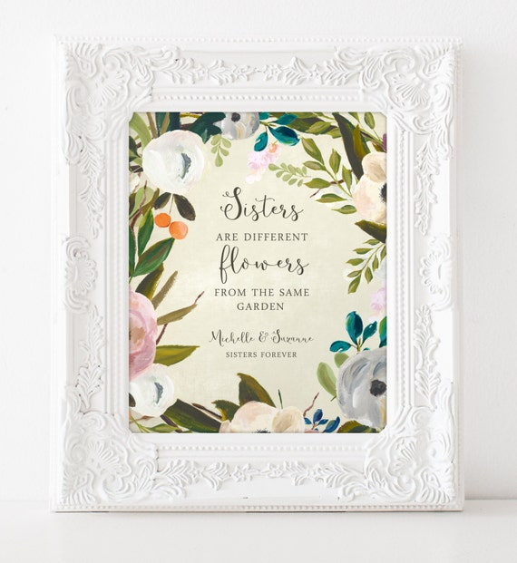 Unique Wedding Gifts For Your Sister : SISTERS gift print - Personalized gift for your Sister - Wedding Gift ...