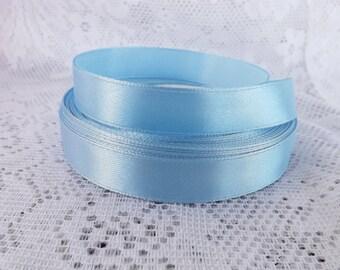 Sky Blue Satin ribbon Blue ribbon 5/8 Blue satin ribbon
