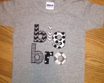 Big Bro Zig Zag Stitch Embroidery Design INSTANT DOWNLOAD