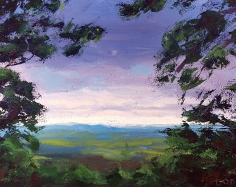 """Overlook, Oil on 24x36"""" canvas, by Sean Bodley Original Oil Landscape Painting, State College Mount Nittany, Pennsylvania Realist Painting"""