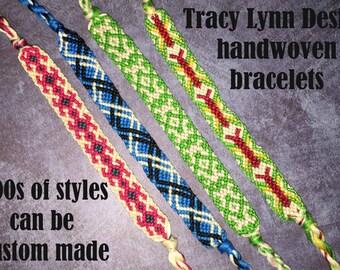 Friendship Bracelet - Woven Bracelet - Macrame Bracelet - Adjustable Bracelets - Custom Made - Stackable Bracelets - Handmade Anklet - #10