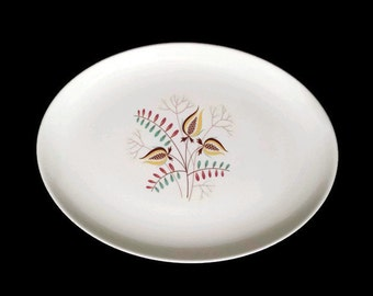 Taylor Smith Taylor Wood Hue TST Oval Plate Serving Platter 50's Dishes