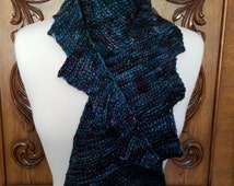Dragon Tail Scarf, hand made crochet scarf, for dragon lovers, gifts for her, premium fiber