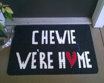 Fallen Hero Chewie We're Home Welcome Mat