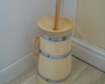 Butter churn wooden made for re-enactment larp viking living history