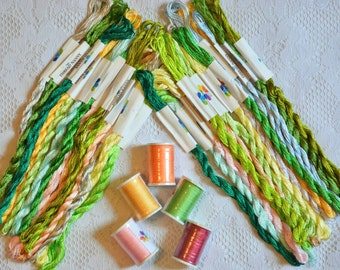 Embroidery floss and silk ribbon for embroidery
