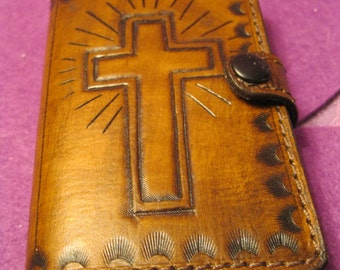 LEATHER BIBLE COVER with Bible