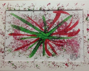Original Organic Painting made with flowers, branches and fruit by Barry Pase #7