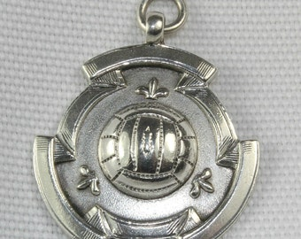Sterling Silver Football Medal