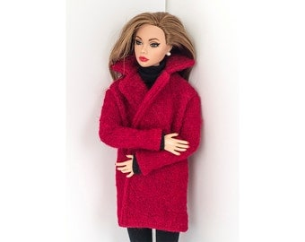 Red coat for Barbie and Poppy Parker