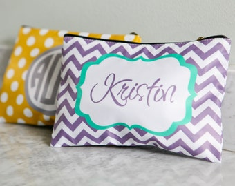 Personalized Large cosmetic bag - Monogram