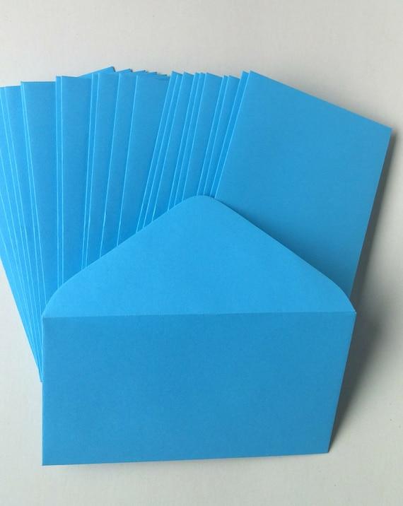 Bright blue florist enclosure cards wedding