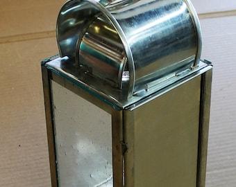 Tin Candle Lantern HA-46R/Tin,(w/tin door)