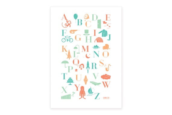 ABC poster | NL Dutch | A3 | for in a baby room, nursery or kids room | interior decoration | baby wall art | kids print | alphabet poster