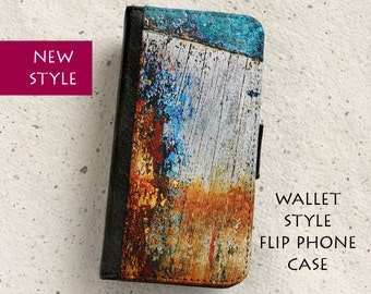 Phone flip case - Weathered Boat Hull - wallet style flip case - iPhone 4,5,6,6Plus,SE & Samsung Galaxy S3,S4,S5,S6,S7 Edge, Note 5